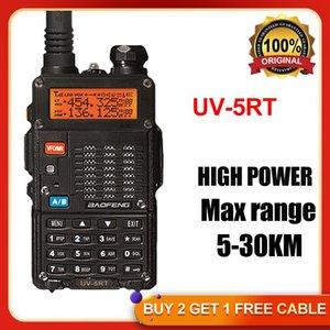 Walkie Talkie 2021 BaoFeng UV-5RT Wakie Tokie Long Range Radios Comunicador BF UV 5R Ham Transceiver Radio Wolkie HP