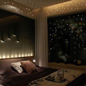 Glow in the Round Dot Dark Star Stickers Luminous Vinyl Wall Like Stars Night Romantic Party Birthday