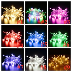 10M 20M 30M Fairy String Lights LED Strings Solid & Flashing Colors LED lamp Chains Party Wedding Festival LED Rave Toys E121607