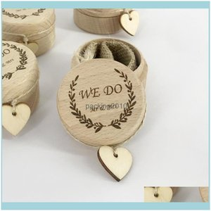 Gift Event Festive Party Supplies Home & Gardengift Wrap Wooden Wedding Ring Box Jewellery Empty Boxes Valentines Day Bearer1 Drop Delivery