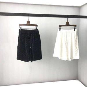 2021SS Весна и лето Новый Высококачественный хлопчатобумажный печать с коротким рукавом круглые шеи панель футболки Размер: M-L-XL-XXL-XXXL Цвет: черный белый NN2B7