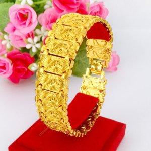 wedding Bracelet Nansha leather show brass genuine gold lovers watch buckle plated