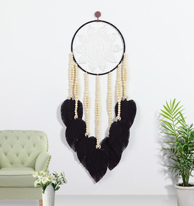 Dream Catcher Handmade Hanging Wall Decoration Craft Traditional Woven Feather Dreamcatcher Ornament for Home Bedroom HWA8531
