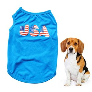 Dog Vest Adorable Summer Clothes Fashion Pet Costume Independence Day Coat For Pet Dog Teddy Puppy Size XS-L