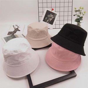 Kore Unisex Yaz Katlanabilir Kova Şapka Katı Renk Hip Hop Geniş Yan Plaj UV Dome Güneş Koruyucu Balıkçı S21
