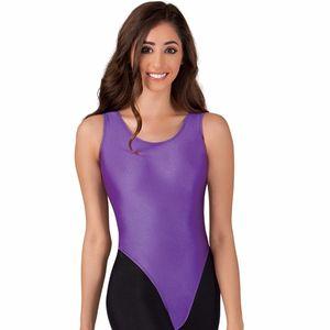 Women's Nylon Lycra Tank Thong Leotard For Gymnastics Leotards Girls Ballet Dance Tops Spandex Skin Tights Garment