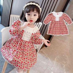 Girls' Fairy spring Dress new children's Korean bubble sleeve Princess Dress{category}