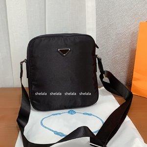 Designer Men's Black 2-sided Briefcases Nylon Crossbody Shoulder Bags Business Handle Briefcase Men Triangle Purses Messenger bags Top