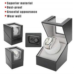 Automatic Rotating Watch Display Box PU Leather Watch Winder Holder Jewelry Case Storage Organizer Box Black Brown