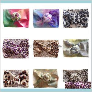 Jewelry Drop Delivery 2021 Ins Leopard Print Rainbow Born Designer Headbands Baby Accessories Girls Hair Bands Cnlzj