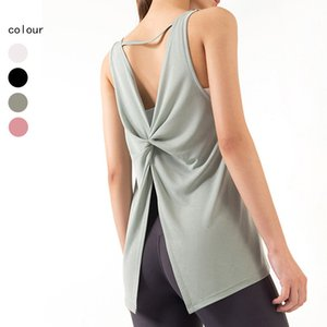 Luxury Party Dresses Sports Sleevels Yoga Cloth Blouse Suspender Loose Quick Drying Fitns Vt Summer Running T-shirt Women