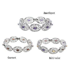 High-end Luxury 925 Silver Ladies Bracelet Amethyst AB Grade Topaz No. 3 Color Wedding Custom Gift