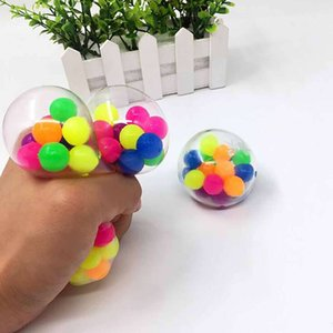 Squeeze Toy DNA Colorful Beads Relieve Stress Hand Exercise Tool for Kids   Adults Random Color Pressure Ball Free Ship