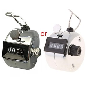 Counters Hand Tally Counter Stainless Steel 4 Digit Number Manual Mechanical Clicker Recorder With Finger Ring For Piecework Game
