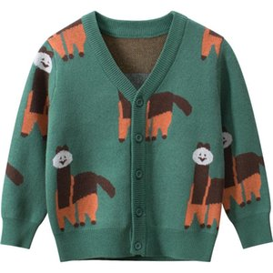 Pullover Toddler Sweater Jacket Coat Cartoon Sheep Soft Cotton For 1-8years Child Infant Little Boys Girls Clothes
