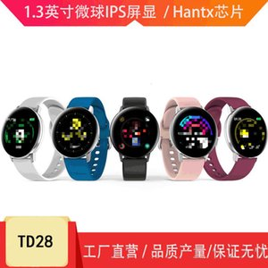 Td28 Fashion Sports Smart Watch Heart Rate and Blood Pressure Monitoring 1.3 Inch Round Full Touch Screen Ip67