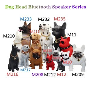 Bluetooth speaker dog head bulldog gift ornaments wireles cards kids christmas Gifts M10 M209 M12 cartoon audio creative Support TF Card For Phone PC Speakers
