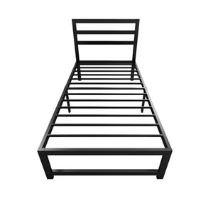 FUXINJIA European style simple environmental protection wrought iron bed 96cm apartment dormitory frame with headboard