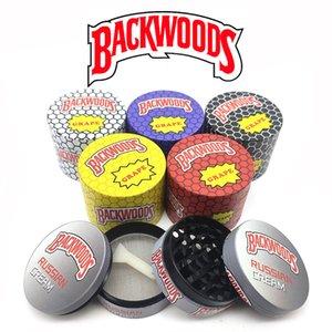 Backwoods Sharpstone курить плоский барабан мультфильм цинкового сплава 4 слоя металлические дробилки табачная дробилка для сухого травы завод