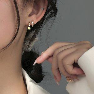 S925 Sterling Sier Study Earrings for Women Fashion Simple Hypoallergenic Beautiful Jewelry Accessories Wholesale