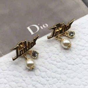 Backs Earrings Yang Ying's Same d Family Letter Tassel Female 925 Silver Brass Fashion Temperament Star