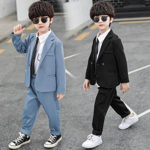 Boys Clothing Sets Boy Suit Kids Outfits Dress Spring Autumn Long Sleeve Jackets Coats Trousers Pants Fashion Business Suits 2Pcs 2-8Y B4799