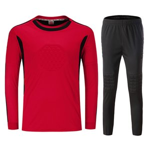 2018 Nuevo entrenamiento Fútbol Fútbol Portero Jersey Traje de Jersey Decorado Quick Dry Guardián Kit de manga larga Uniformes de fútbol