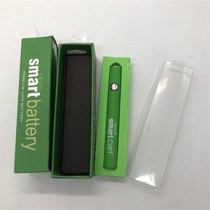 Smart Vape Battery 510 Thread Thread Caneta Cartucho Baterias 380mAh Pré-aquecimento Recarregável Ajustável Tensão Vaporizador Canetas Ecig Starter Kits Cabo USB