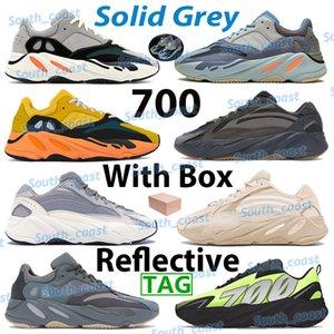 Kanye 700 hommes courir chaussure carbone sarcelle bleu soleil solide gris massif mauve aimant triplement utilitaire noir Vanta JELL Vanta Yellow Geode Boo Sneakers réfléchissants