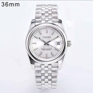 YT Factory Men Watch 126200 36mm quadrante bianco A2813 Automatic Millennium Strap Moda orologio da polso da polso di lusso