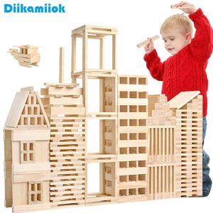 100pcs Large Size 11.7CM Wooden Domino Blocks Free Pile Tower Building Intellectual Educational Toys for Children Puzzle Games A0511