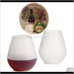 Glasses Drinkware Kitchen, Dining Bar Home & Garden Drop Delivery 2021 6 Colors Sile Wine Glass Folding Cup Beer Mugs Unbreakable Outdoor Col