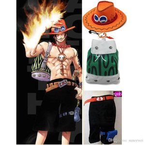 One Piece D Ace Cosplay Costume Set