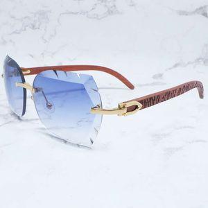 Óculos de sol sem raio homens grandes luxo Sawtooth Sun Óculos Carter Designer Madeira Metal Shades Para Mulheres Buffs Corte Eyewear