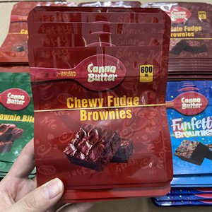 plastic packaging bag 600mg Canna butter choclate fudge brownies bites bags edibles mylar