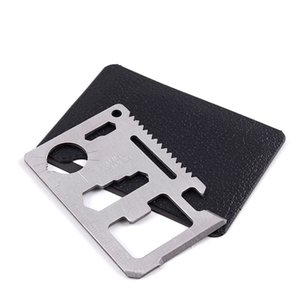 Hunting Camping Pocket 11 In 1 Multi Credit Card Knife Stainless Steel Outdoors Gear Survival Tools FTYW