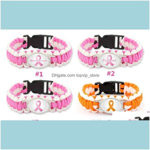 And Hiking Sports & Outdoorsbreast Cancer Fighter Paracord Wristband Survival Bracelets Hope Ribbon Custom Made Camping Customized Logo Leng