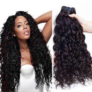 Brasileño Malasia Tejido de pelo onda de agua natural 100% Paquetes de pelo virgen sin procesar Brasileño Malasia Remy Hair Hair Extensiones