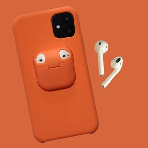 Cell Phone AccessoriesSuitable for 12 silicone mobile phone case, airpods protective case, Bluetooth headset case, 11 protective case