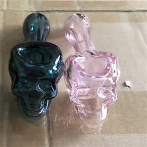 QBsomk 3.8inch Skull Tobacco Glass pipe Spoon Smoking Pipes for Oil Mini Pipes Water Pipe Water Bongs Hand Pipes Oil Burner Pipe 401 R2