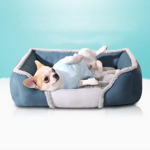 Kennels & Pens Soft Dogs Bed Sofa Nest Pet Separable Warm Cotton House Winter Kennel For Small Medium Large Dog Cat Square