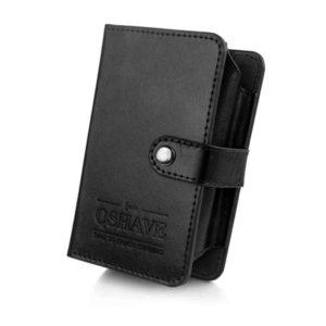 QSHAVE Razor Shaving Brush Travel Case, Snap on, Wet Shaving Travel Kit, Gifts for Husband, Gifts for Travelers (Case Only) P0817