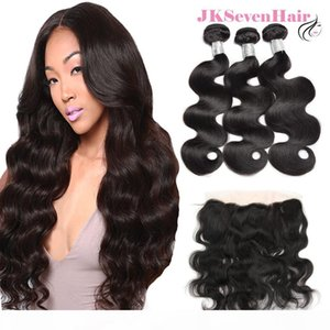 12A Top Grade Body Wave Virgin Brazilian Hair Bundles 3 PCS With 13x4inch Lace Frontal Malaysian Peruvian Vietnam 100% Human Hair Weft