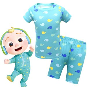 Baby Pajamas Summer children's suit home service CocoMelon short-sleeved top + shorts 2-piece set 1772 Kids Clothing