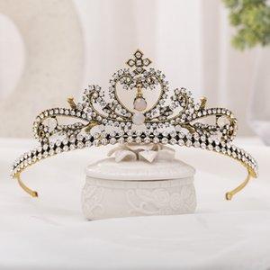 Bridal Crown Europeo e American Commercio estero Retro Womens Baroque Corona International Station Decorazioni di nozze Bridal Headdress
