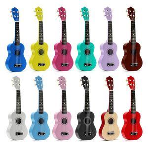 New 21 Inch 4 String Spring Soprano Hawaiian Spruce Basswood Mini Guitar Kids Gift Children Ukulele Musical Instruments