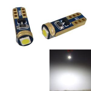 100X Ampoules de voitures super lumineuses Blanc T5 3030 1SMD CANBUS ERROR ERROR GRATUIT CLUSTER 37 73 74 79 17 57 LED lumières ampoule 12V