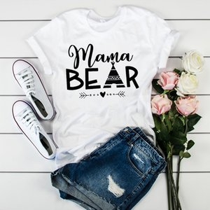 Women Bear Mama Letters Fashion Mother Clothing Tees Tops Graphic Female Ladies Womens Lady T-Shirt Tumblr T Shirt T-shirts