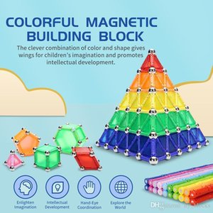 350pcs set Colorful Magnetic Sticks Building Blocks Early Education Toys Metal Balls DIY Stem Game For Kid Children Gift