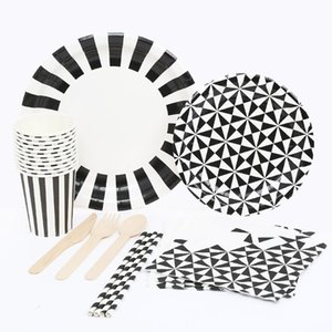 Disposable Dinnerware Tablewares Paper Towel Cup Tableware Set Birthday Wedding Party Single-Use Napkins Assortment Kit Supplies
